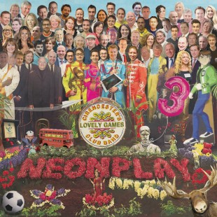 Invitation in the style of the Sgt. Pepper's Lonely Hearts Club Band album cover