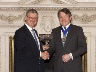 George Mackintosh receiving the Queen's Award for Enterprise