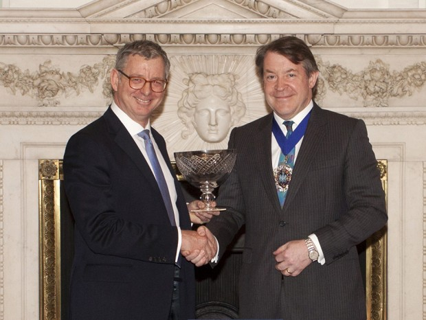 George Mackintosh receiving the Queen's Award for Enterprise.