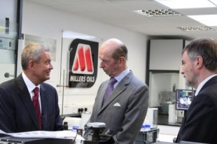 The Duke of Kent at Millers Oils