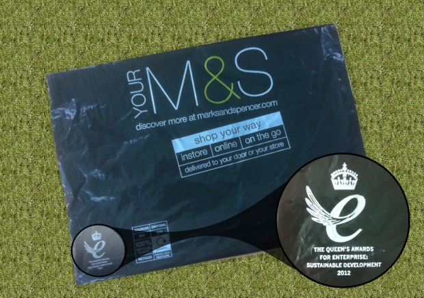 Marks and Spencer bag showing the QA logo