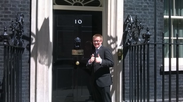 Thomas Murphy outside Number 10 Downing Street.