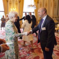 Richard Naylor meets the Queen.