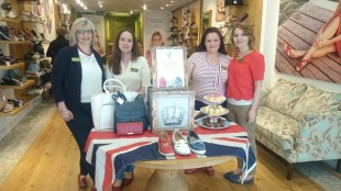 A Hotter shoe shop, from left, are Tracey Fisher, Amanda Moore, Fiona McDonald and Rochelle Tucker