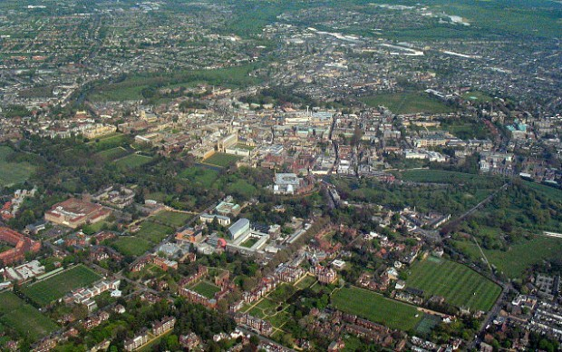 Aerial view of Cambridge city centre (credit: Cmglee/CC BY-SA 3.0)