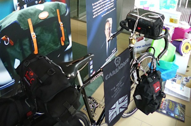 Bike displaying Carradice travel luggage