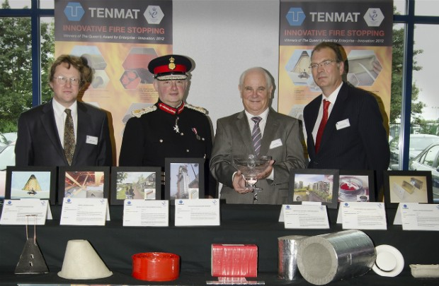 The Lord Lieutenant with Tenmat Fire Protection team.