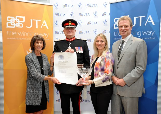 JTA directors receiving their Queen's Award from the Lord-Lieutenant