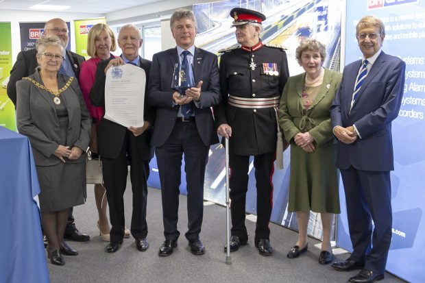 Chris and Philip Hanson-Abbott with the Queen's Award for Enterprise.