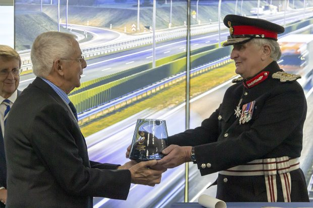 Chris Hanson-Abbott being presented with the Queen's Award for Enterprise.