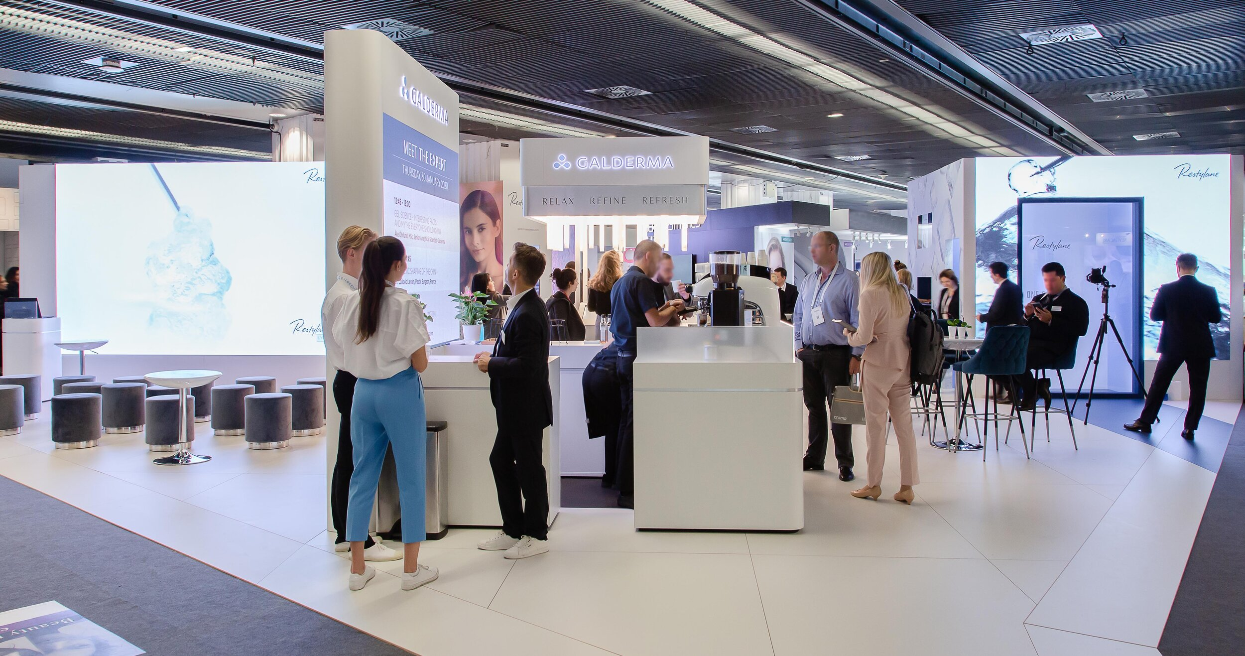 Image of the Galderma booth from Ignition DG at IMCAS world congress - January 2020